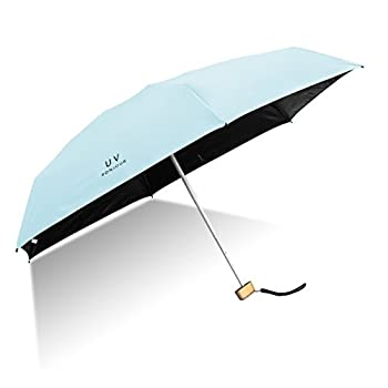 GXYUVW Mini Compact Sun&Rain Umbrella Lightweight Portable Small Umbrella Travel Parasol with 95% UV Protection  Blue