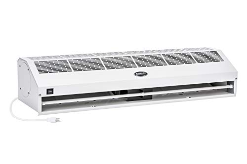 """DuraSteel Aerial Titan-1 40"""" White Super Power High Air Volume Commercial Indoor Air Curtain - Ul Certified - with Free Heavy Duty Door Microswitch (Limit Switch)"""