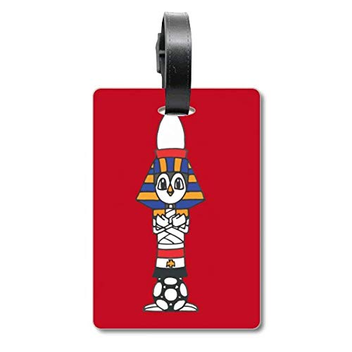 Ägypten Mummy Sphinx Fußball Kofferanhänger Gepäckkarte Hängende Scutcheon Label