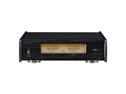 Teac AP-505 HiFi Verstärker der Klasse D (schaltbar, 3 Ausgabemodi, Schutzschaltung, Aluminiumgehäuße, Ringkerntransformator), Schwarz AP-505-B one Size