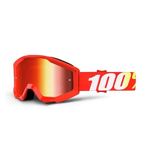 100% 50510-232-02 STRATA JR Brille Furnace - Spiegel Rot Linse