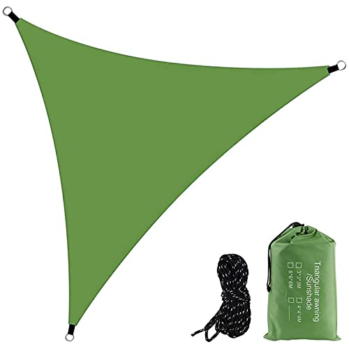 YDHNB Toldo Vela Color Verde sombrilla Parasol triangulo Tela de Poliéster 160g/㎡ HDPE Transpirable protección UV para Patio, Exteriores, Jardín,6x6x6m