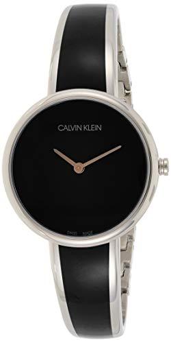Calvin Klein Unisex Erwachsene Analog Quarz Uhr mit Edelstahl Armband K4E2N111