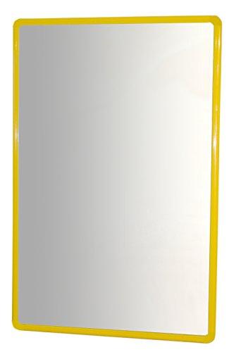 HenBea- Espejo infantil acrílico con marco de aluminio, Color amarillo, 100x65 cm (754/C4)