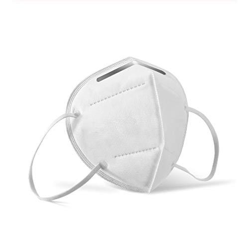 Máscara para adultos N95 / FFP2 (paquete de 10 unidades) filtración premium de 5 capas para protección de boca e nariz y antipolvo seguridad y cuidado de su salud
