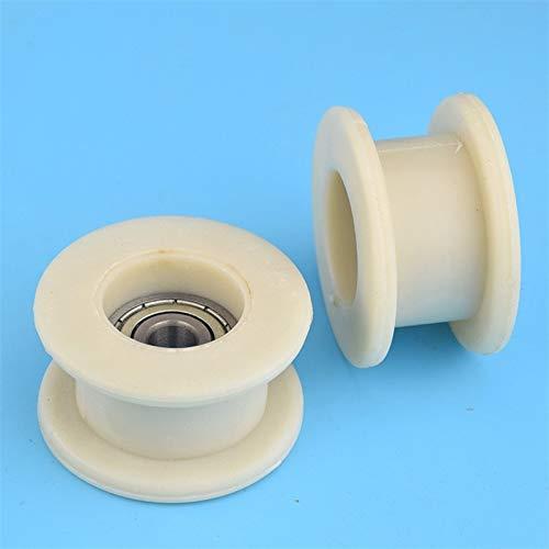 XBaofu 1pcs 10 * 56 * 31 mm Tipo H cóncavo de Nylon D10 for Haití máquina de moldeo por inyección de Piezas de la Rueda Impresora 6200 rodamientos for 3D