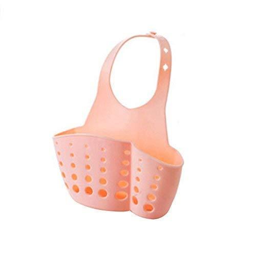 Mensole Sink Organizzatore Cucina Bagno carrello Porta spugna piatto di sapone (rosa) Flower Pot Rack XIUYU