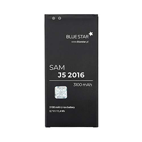 Bluestar EB-BJ510CBE - Batería de Repuesto Compatible con Samsung Galaxy J5 2016 (SM-J510) 3100 mAh