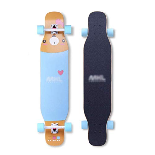 RVTYR Skateboards Professionelle Skateboard Vier Runden Teenager männliche und weibliche Studenten Tanzkollegs Professionelle langes Brett Anfänger Longboard Skateboard Skateboard ninjago