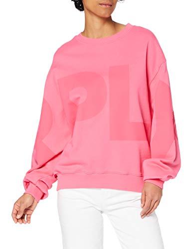 Replay Damen W3581 Sweatshirt, 897 PINK Cyclamen, XS