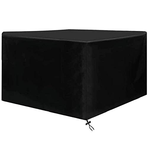 HSGAV Patio Furniture Covers Waterproof, Garden Table Cover Square Outdoor Table and Chair, Sofa, Sectional Cover 420D Oxford Tear-resistant, UV Resistant Black,120X120X74cm