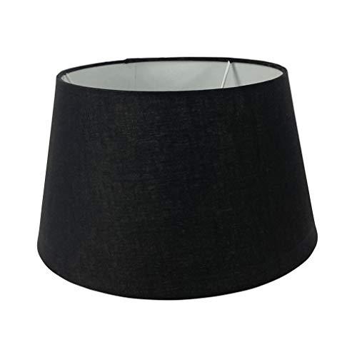 Wogati Premium Lampenschirm 30 cm x 23 cm x 18 cm / Schwarz / Stoff / E14 / E27 / inkl. Adapter