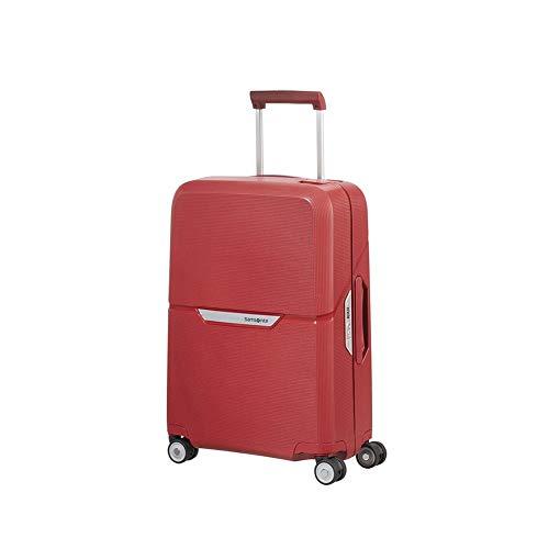 SAMSONITE Valigia-trolley SAMSONITE cm 40x55x20 MAGNUM, bagaglio a mano rosso 109504-7222 - Trolley bagaglio a mano in polipropilene ultraresistente - Maniglia superiore e laterale integrate