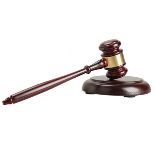 TinkSky, Martelletto in legno con base rotonda realizzato a mano, per giudici e aste, colore: rosso vino