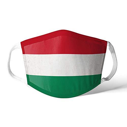 M&schutz Maske Stoffmaske Mittel Notleidende Flagge Ungarn/Ungarisch Wiederverwendbar Waschbar Weiches Baumwollgefühl Polyester Fabrik