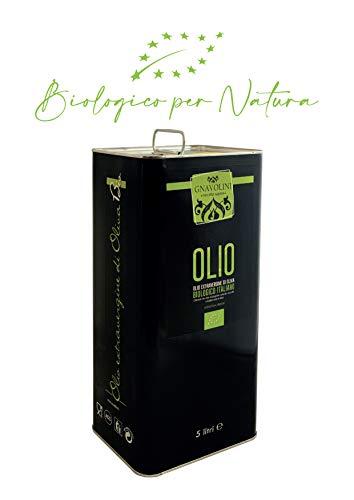 Olio Extravergine Biologico di Oliva 100% ITALIANO di Gnavolini Raccolta Sapore | Latta da 5 Litri | Olio Evo Biologico per il Benessere in Cucina
