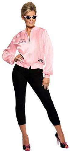 Smiffy's 28385, Chaqueta de Mujer para Grease, Rosa, S (8 - 10 UK)