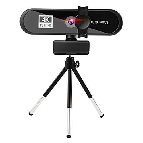 tellaLuna Cámara web de videoconferencia 4K Autofocus USB Cámara web con micrófono y trípode para reunión transmisión en vivo HD PC Web Cam