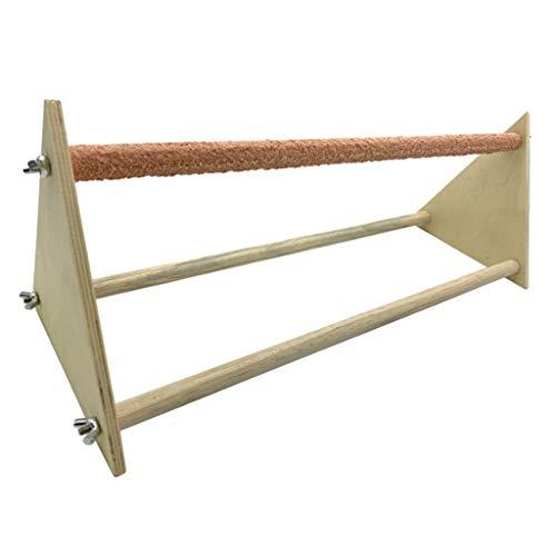 Fenteer Escalera de Percha de Pollo gallinas Soporte de Madera Juguete Hecho a Mano Duradero, fácil instalación