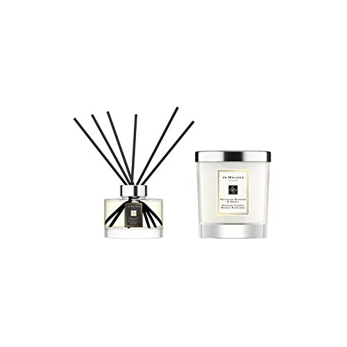 Jo Malone Mix and Match Diffuser (English Pear and Freesia Scent) and Candle (Nectarine Blossom and Honey) Bundle (2 Items)