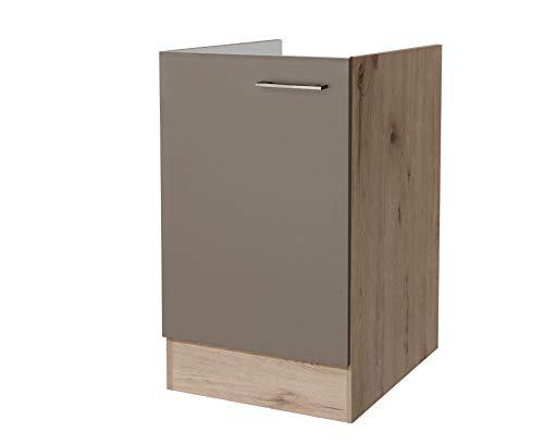 Flex-Well Spülenunterschrank RIVA | Spülenschrank ohne Arbeitplatte | Breite 50 cm | Eiche San Remo