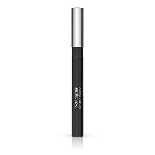 Neutrogena Healthy Lengths Mascara for Stronger, Longer Lashes, Clump-, Smudge- and Flake-Free Mascara with Olive Oil, Vitamin E and Rice Protein, Black 02,.21 oz