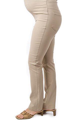 Christoff Damen Stretchhose Umstandshose Hose Umstandsmode 557/33 (42 (Herstellergröße: 42/32L), beige)