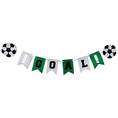 SDENSHI Fútbol Temático GOL Bunting Banner Garland Party Sports Decoración Props