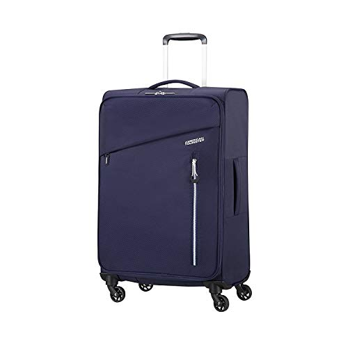 American Tourister Litewing Spinner 70 cm Tranvía Azul Poliéster 67 L - Bolsa de viaje (Tranvía, Azul, Insignia Blue, Medio, Poliéster, 4 rueda(s))