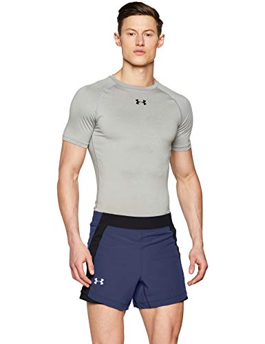 Under Armour Qualifier Speedpocket 5' Running Short Pantalones Cortos, Hombre, Tinta Azul (497)/Reflectante, L