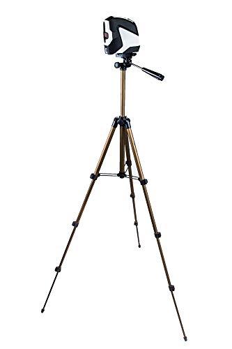 TronicXL TRIPOD 19B 105cm bouwstatief voor laser nivelleerapparaat lijnlaser kruislijnlaser Einhell Bosch Dewalt Makita Flex Leica Stanley Meterk Tacklife Huepar Firecore Skil 1/4 + 3/8 inch