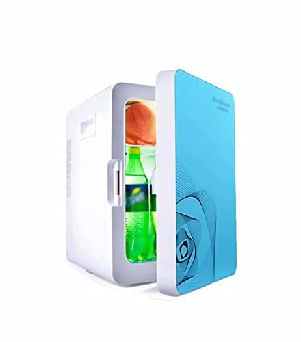 SABYDICAR Nevera de 20 litros, Mini Nevera para habitación y Coche, congelador frío y Caliente de 12V y 220V, Nevera portátil para refrigeración de cosméticos/Bebidas, Nevera Personal, silencioso