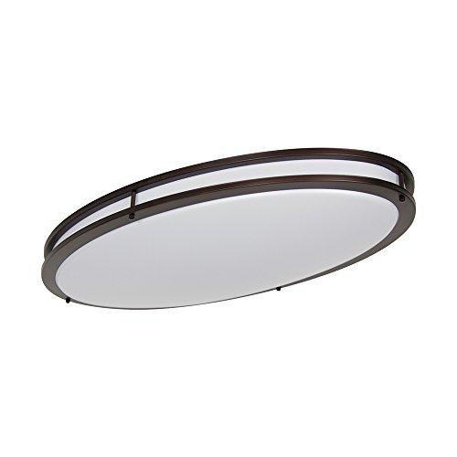 LB72135 LED Flush Mount Ceiling Lighting Oval, Oil Rubbed Bronze, 32-Inch, 35W, 200W Equivalent, 4000K Cool White, 2800 Lumens, ETL & DLC Listed, Energy Star, Dimmable
