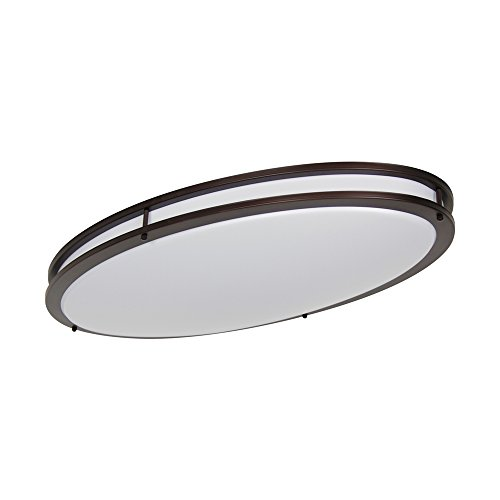 LB72134 LED Flush Mount Ceiling Lighting Oval, Oil Rubbed Bronze, 32-Inch, 35W, 250W Equivalent, 3000K Warm White, 2800 Lumens, ETL & DLC Listed, Energy Star, Dimmable