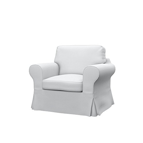 Soferia Ersatzbezug fur IKEA EKTORP Sessel, Stoff Elegance White, Weiß