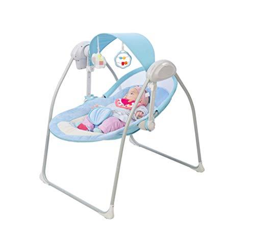 Lettino elettrico per bebè - Lettino automatico per bambini con dondolo, cesto musicale con telecomando, letto neonato Culla, Cesto letto per dormire