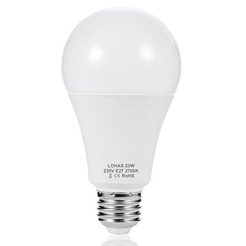 LOHAS 23W E27 LED Lampen, Ersatz für 200W Glühlampen, 2500LM, Warmweiß 2700K, 240°Abstrahlwinkel, LED Leuchtmittel, LED Birne, 1er-Pack