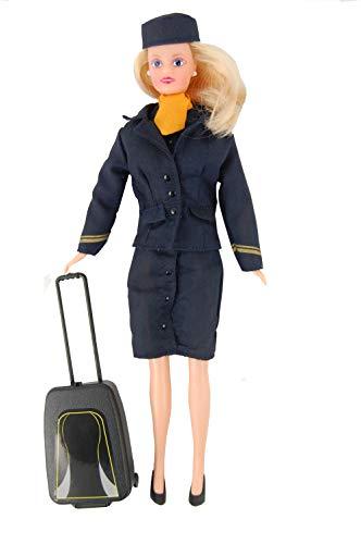 Limox Toys DW08 Puppe/Doll Stewardess mit Koffer - Betty The Stewardess