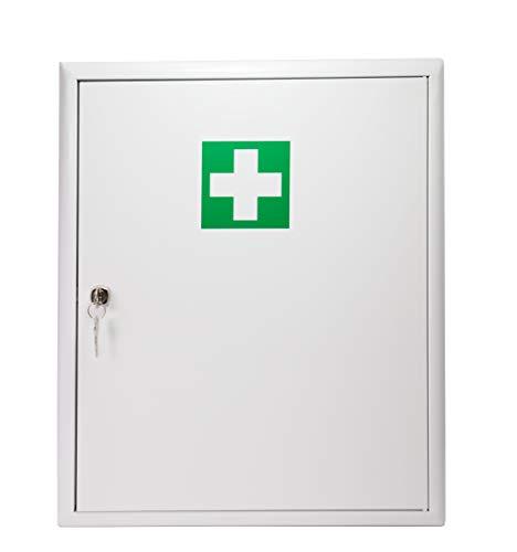 Stahl Verbandschrank mit Verbandmaterial Erste Hilfe Kasten Medizinschrank Verbandschrank Stahlblech mit Füllung DIN 13157 abschließbar 620270