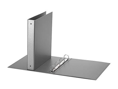 Favorit Raccoglitore a Quattro Anelli Tondi, Formato 22 x 30 Cm, Grigio Metallizzato