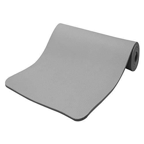 Hzb821zhup Esterilla de yoga con rayas horizontales de 15 mm de grosor, antideslizante,...