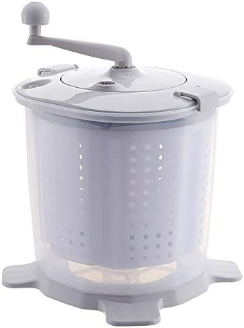 Portable Hand Powered Washing Machine Mini Manual Washer and Spin Dryer Combo Non Electric Compact product image