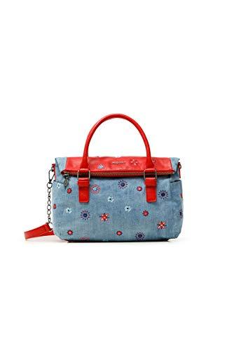 Desigual Fabric Hand Bag, Borsa a Mano. Donna, Colore: Rosso, U