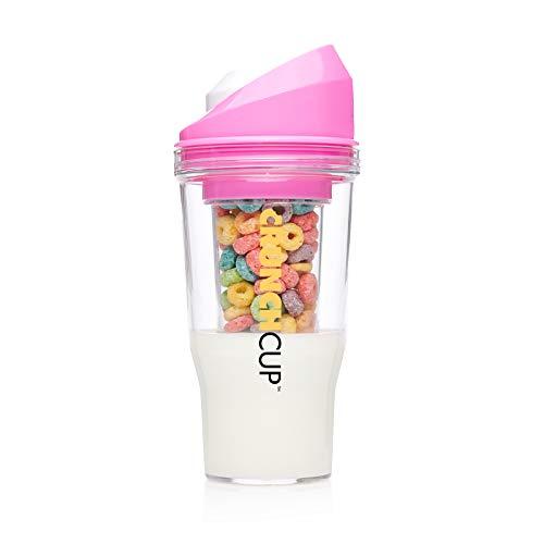 The CrunchCup (estándar) - Vaso para cereales portátil. Ni cuchara, ni cuenco, tómate tus cereales cuando estés en movimiento