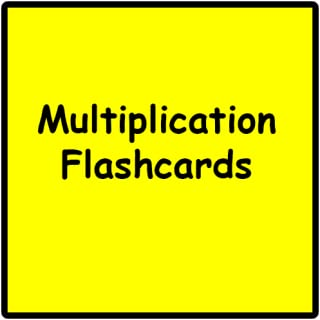 Multiplication Web Flashcards (1 - 12)