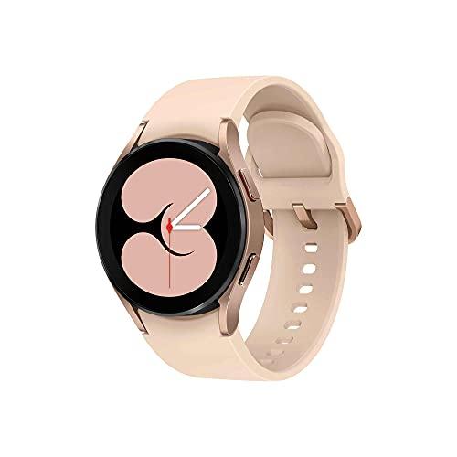Samsung Galaxy Watch4 40mm Orologio Smartwatch, Monitoraggio Salute, Fitness Tracker, Batteria lunga durata, Bluetooth, Gold, 2021 [Versione Italiana]