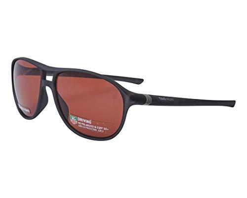 TAG Heuer zonnebril (TH-6043 212) mat zwart - pruimenkleuren gepolariseerd