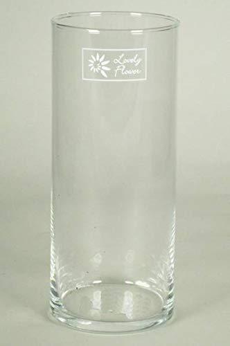INNA-Glas Set 4 x Windlicht Titus, Zylinder - rund, klar, 20cm, Ø 8,5cm - Kerzenhalter - Deko Glas