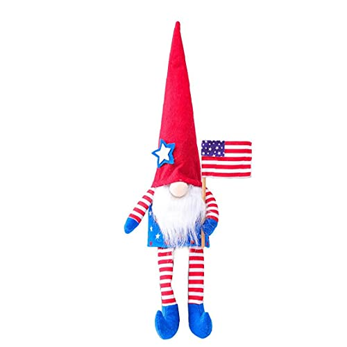 finebrand Veterans Day Gnome American Independence Faceless Doll Patriotic Plush Dwarf Elf Doll Long Legs President Election Ornament Style2