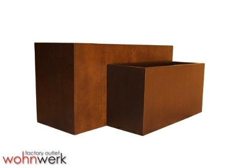 Teak Holz Veneer Fiberglas Raumteiler Blumenkübel Pflanzenkübel Pflanzgefäße Größe I